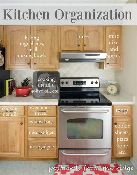 kitchen organization tips kitchen organization tips postcards from the ridge