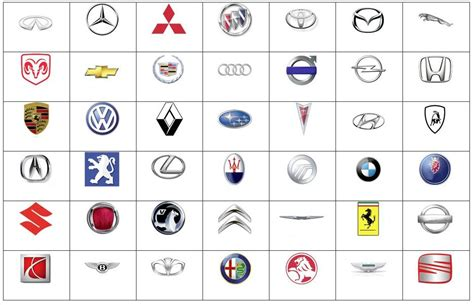 american car logos and names list famous car logos and their names www pixshark com