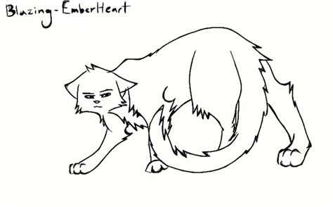 warrior cat template the gallery for gt warrior cat drawing outline