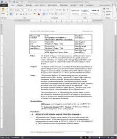 engineering change document change control procedure