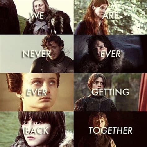 Game Of Thrones Red Wedding Meme - stark family meme pink pens and high heels
