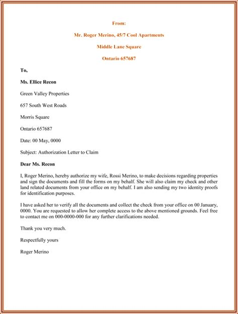 Bank Statement Cover Letter Passport Format Of Authorization Letter For Bank Statement Cover