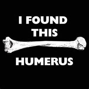 Found this humerus bone zombies t shirts blackout tees