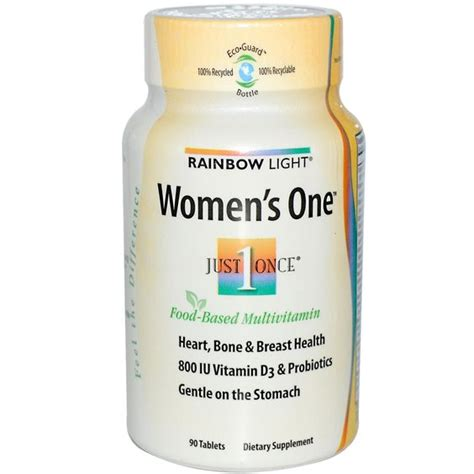 Gnc S Daily Calcium Support 90 Tablet rainbow light just once s one food based multivitamin 90 tablets bone health for