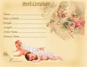cute baby birth certificate certificates 4 reborn fake