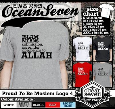 Kaos Proud To Be Moslem Logo 6 Cr Oceanseven kaos oceanseven proud to be moslem katalog oceanseven clothing factory