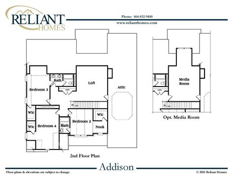 addison floor plan sc addison reliant homes new homes in atlanta