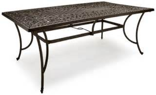 Table Patio Strathwood St Cast Aluminum Rectangular Patio Table Patio Table