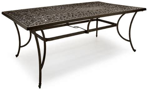 Rectangle Patio Table Cast Aluminum Cast Aluminum Outdoor Dining Table