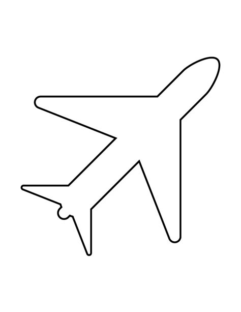 airplane cut out template airplane stencil 67 h m coloring pages