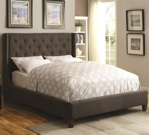 coaster upholstered bed coaster upholstered beds 300453q queen upholstered bed