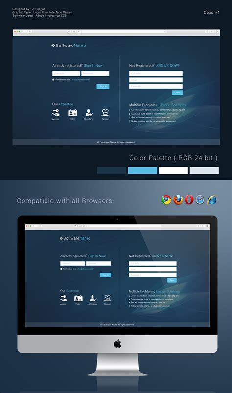 behance login login user interface design options on behance