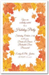tangerine fall leaves invitations autumn invitations