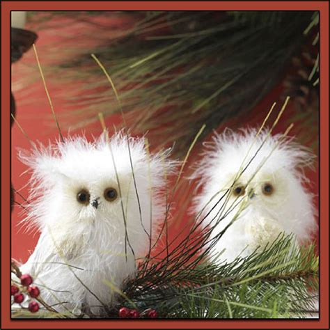 adorable white owl christmas decorations