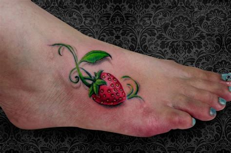 strawberry tattoos designs strawberry tattoos