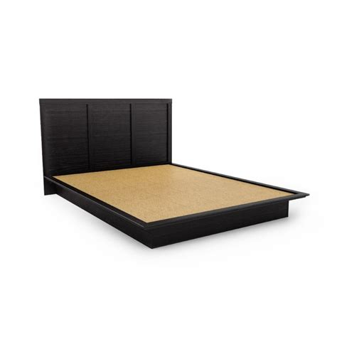 queen size platform bed frame poundex associates item fq queen size platform bed frame