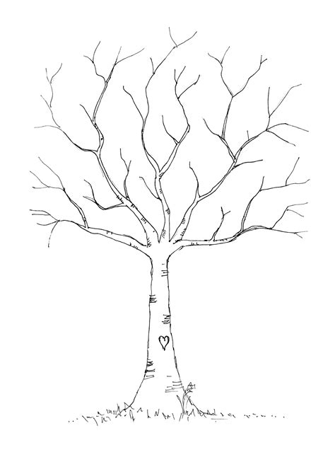 Wedding Thumbprint Tree Download Tree Template To Print