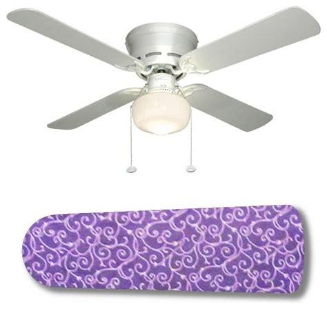 Purple Passion White Swirls 42 Quot Ceiling Fan And L Purple Ceiling Fan