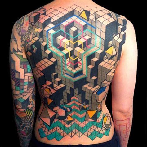 geometric illusion tattoo geometric tattoos by swiss tattoo artist vuing com