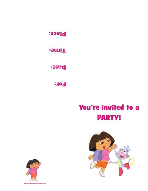 dora the explorer printable party decorations dora the explorer free printable birthday party invitation