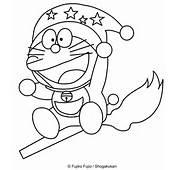 Disegno Di Doraemon Befana Con La Scopa Da Stampare E Colorare