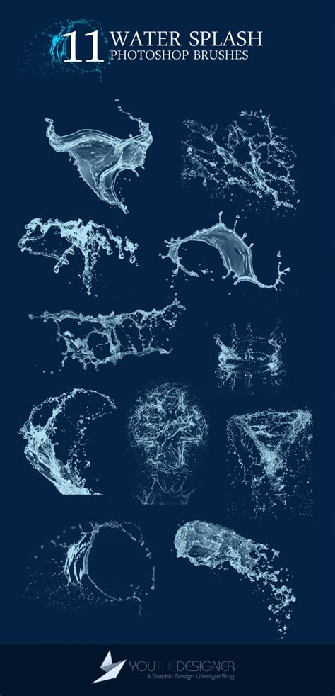 water typography tutorial photoshop 11 water splash photoshop brushes brushes photoshop and