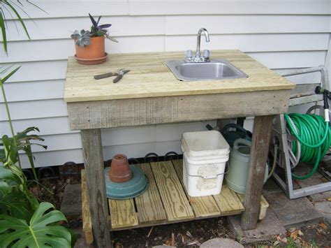 potting bench with sink plans potting table plans with sink woodworking projects plans