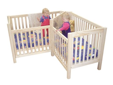 Twin Cribs Beds Made For Twins Corner Crib Bedding