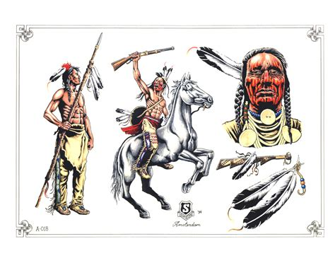 red indian tattoos designs american tattoos