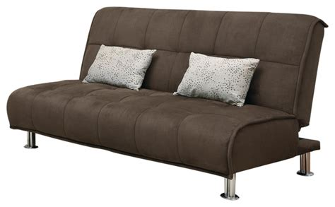 Futon Brown by Co Furniture Brown Microfiber Casual Comfort Armless Sofa Bed Futon Sleeper W
