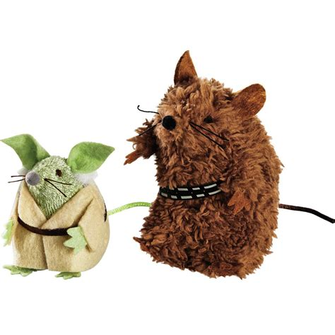 Toys Chewbacca wars yoda chewbacca mice cat toys petco