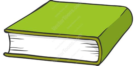 a book picture green hardcover book clipart vector