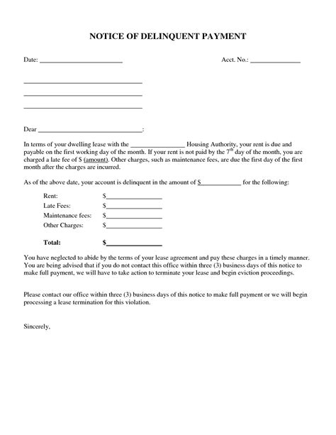 best photos of rent due notice template past due rent