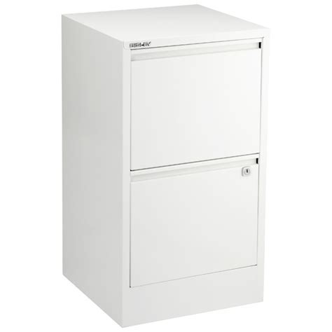 Bisley White 2  & 3 Drawer Locking Filing Cabinets   The
