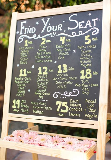27 creative seating chart ideas your guests will hello may 183 there s an idea seating charts