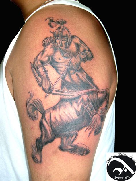centaur tattoo centauro warrior by artefatotattoo on deviantart