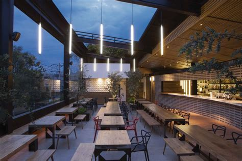 Roof Top Bar by Balmori Rooftop Bar In Mexico City E Architect