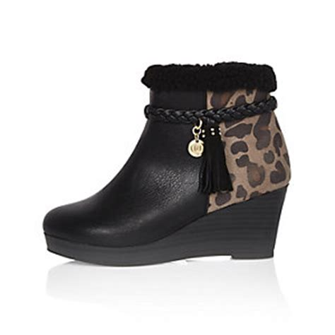 River Island Black Kickers footwear shoes boots river island