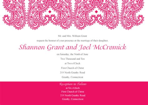 free vector invitation card template paisley wedding invitation template vector 123freevectors
