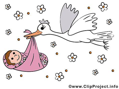 Newborn Clipart storch und baby clipart bild