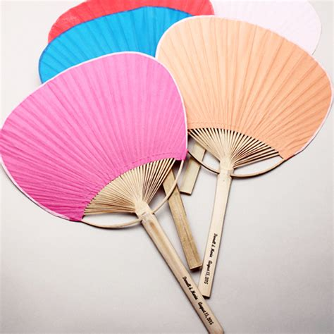 palm hand fans wedding favors personalized paddle fan palm and bamboo hand fans