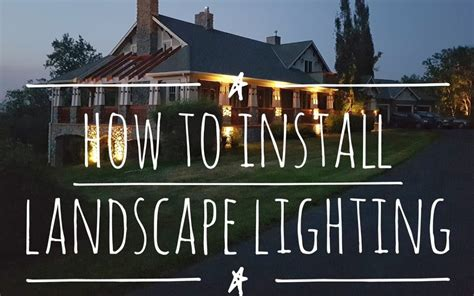 how to install outdoor low voltage lighting how to install low voltage outdoor landscape lighting