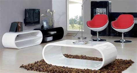 Contemporary White Coffee Table Black And White Contemporary Coffee Table