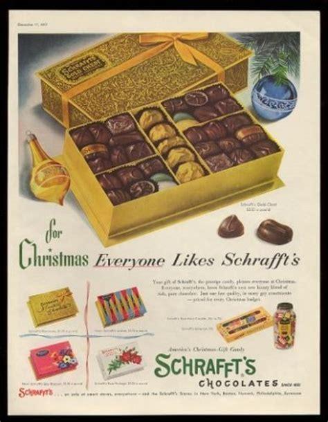 Christmas Treats 1955 Schrafft S Chocolates Christmas Gold Chest Box Photo