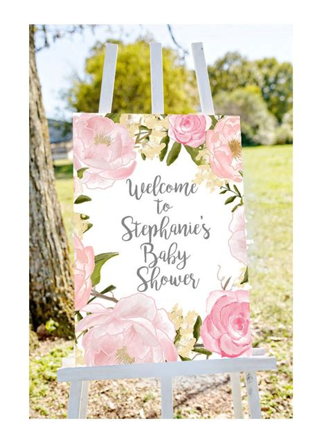 Welcome Baby Shower by Baby Shower Welcome Sign Welcome To Baby Shower Sign Pastel