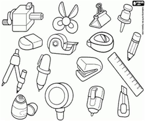 Desenhos de Material de escritório para colorir, jogos de