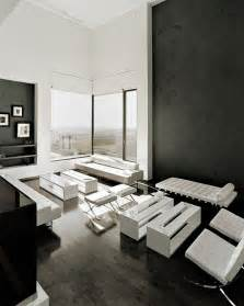 Black And White Living Room by Black And White Living Room Interior Design Ideas