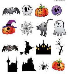 4 designer halloween characters vector materials