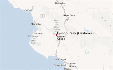 bishop california map bishop peak california mountain information
