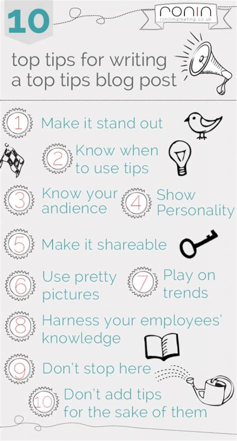 10 Tips For Writing The by 10 Top Tips For Writing A Top Tips Post